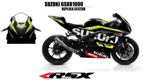 SUSUKI GSXR 1000 2017 REPLICA ECSTAR