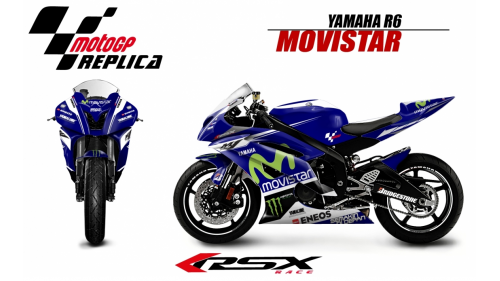 YAMAHA R6 2006-2007 MOVISTAR-BE