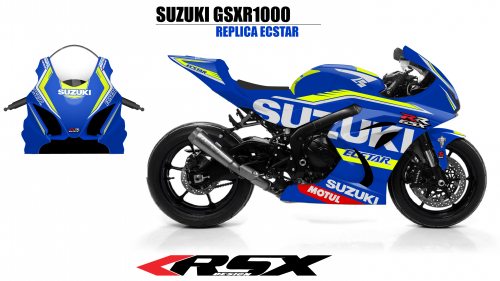 SUSUKI GSXR 1000 2009-2016 REPLICA ECSTAR