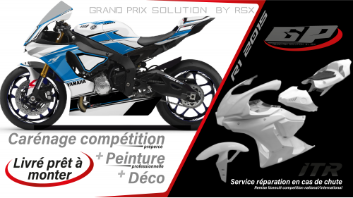 PACK GRAND PRIX YAMAHA R1 2015-19 RACE BLANC