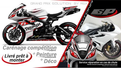 GRAND PRIX PACK TRIUMPH DAYTONA 675 2013 and + RACE WHITE