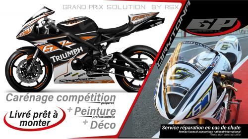 GRAND PRIX PACK TRIUMPH DAYTONA 675 2013 and + RACE BLACK