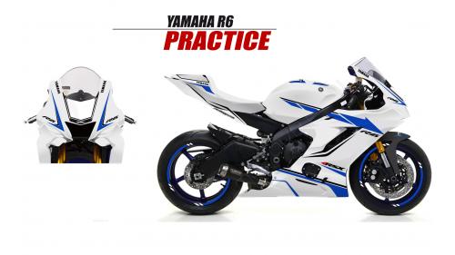 YAMAHA R6 2017 PRACTICE BLANC