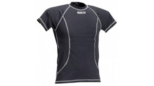 T-Shirt Sparco Basic noir manches courtes