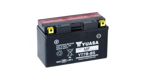 Batterie 12 volts YUASA YT7B-BS (pour cosse à visser)