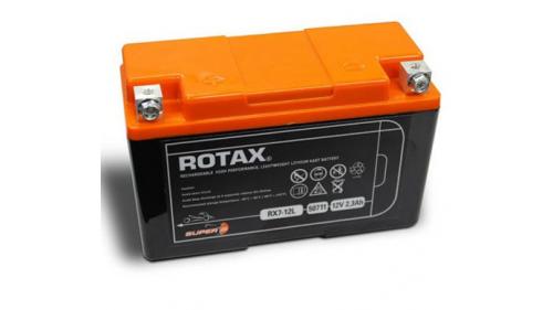 """Batterie12 volts ROTAX """"spécial lithium"""" - 2,3 Ah - RX7 - 12L (dessus orange)"""