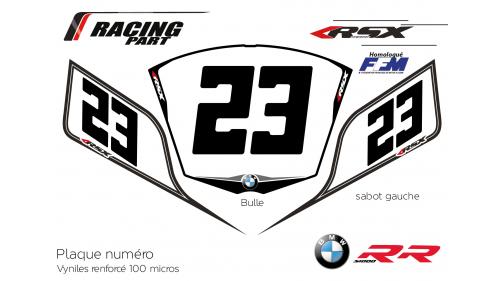 Plaque numéro BMW S1000rr