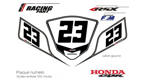 Plaque numéro Honda CBR600