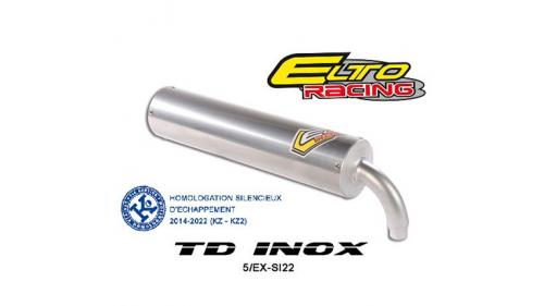 Silencieux ELTO inox - mod. TD - KZ C Homologué CIK/FIA EN KZ ET KZ2