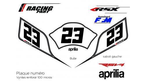 Plaque numéro Aprilia RSV4