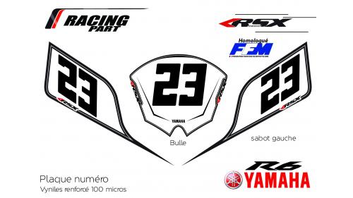 Plaque numéro YAMAHA R6