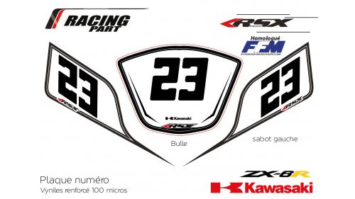 Plaque numéro Kawasaki ZX6R