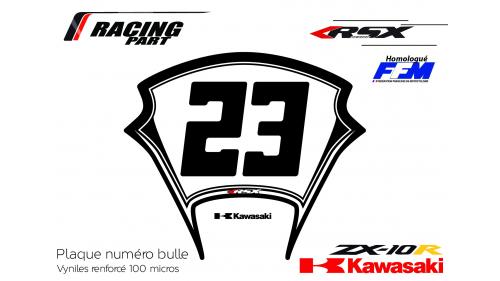 Plaque numéro Kawasaki ZX10R