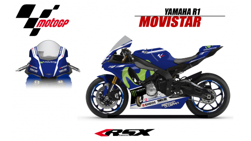 YAMAHA R1 2015 REPLICA MOVISTAR