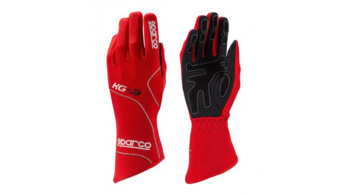 Gants SPARCO KG-3 Blizzard rouges