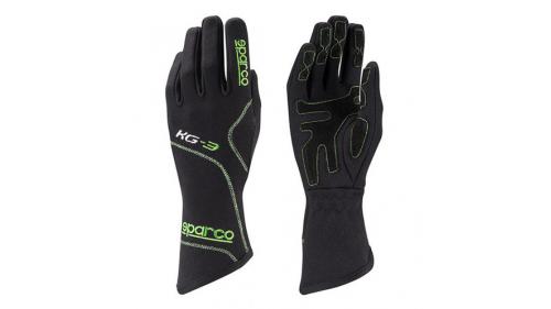 Gants SPARCO KG-3 Blizzard noirs/verts