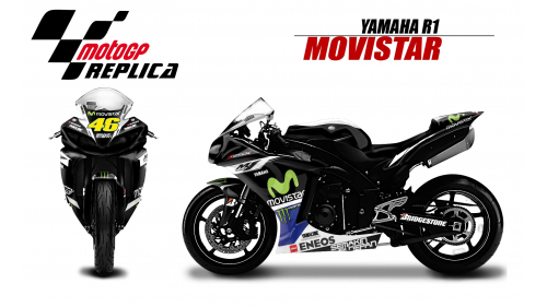 YAMAHA R1 2009-2014 MOVISTAR46-BE