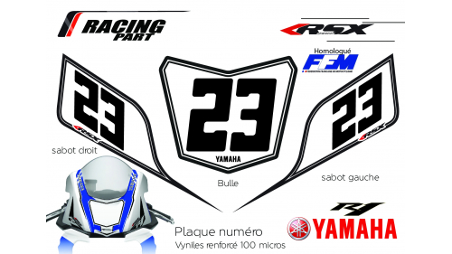 YAMAHA R6 plate number