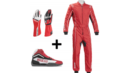 "Kit Pilote ""GROOVE"" Sparco ROUGE"