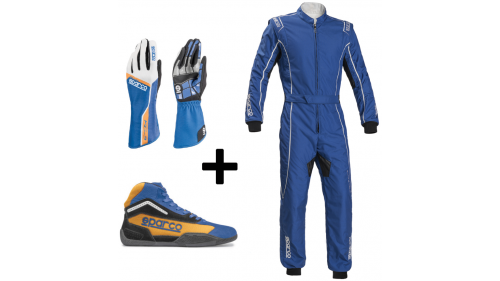 "Kit Pilote ""GROOVE"" Sparco BLEU"