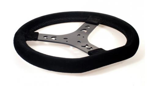F1 black alcantara steering wheel