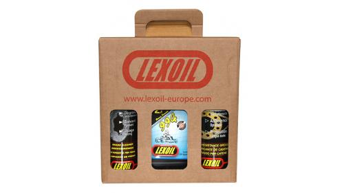 Pack LEXOIL - Huile 994 - Graisse châine - Nettoyant frein OFFERT