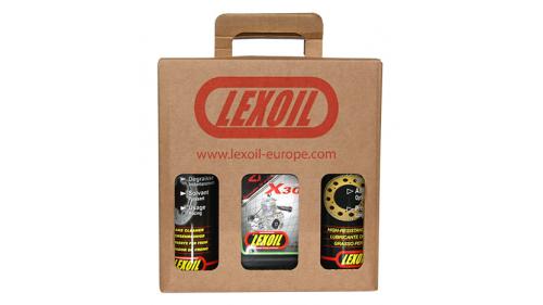 Pack LEXOIL - Huile X30 - Graisse châine - Nettoyant frein OFFERT