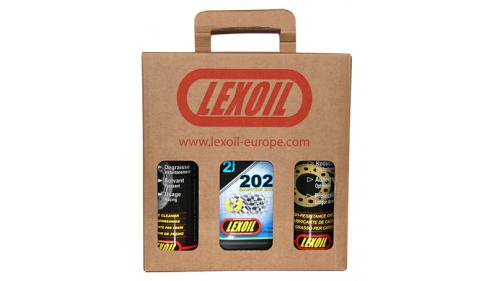 Pack LEXOIL - Huile 202 - Graisse châine - Nettoyant frein OFFERT