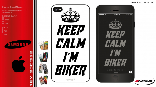 Keep calm I'm biker SmartPhone cover
