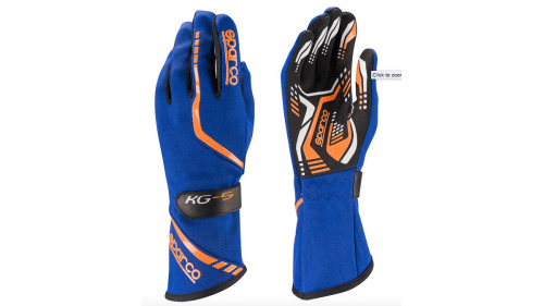 GLOVES SPARCO TORPEDO KG-5 BLUE / ORANGE