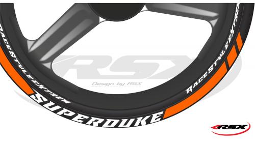 690 SUPERDUKE Wheel stripes