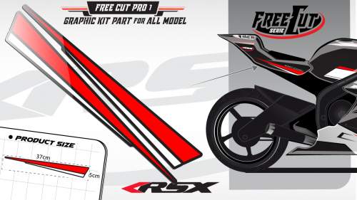 Rear seat F1 Graphic kit