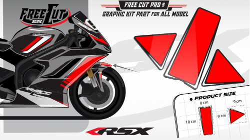 Front fender F1 black Graphic kit