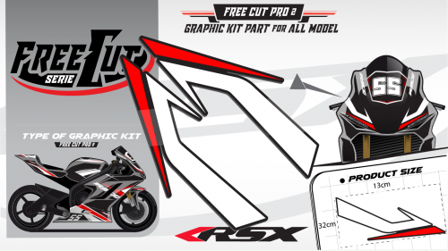 Head fork F1 black Graphic kit