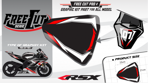 Rear seat F2 back Graphic kit