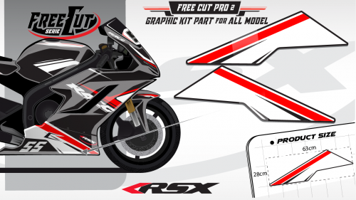 Low fairing F2 white Graphic kit