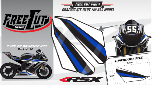 Head fork F3 black Graphic kit