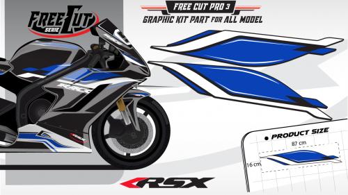 Flank F3 black Graphic kit