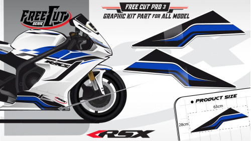 Low fairing F3 white Graphic kit