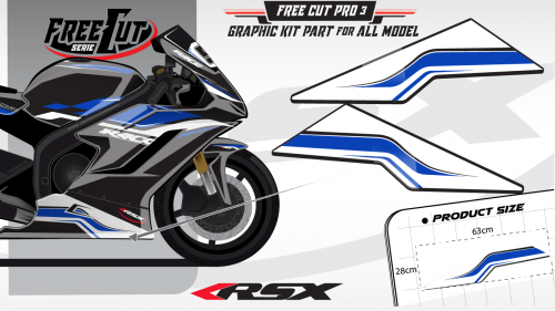 Low fairing F3 black Graphic kit