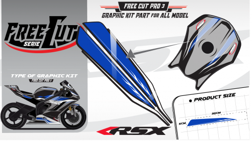 Fuel tank F3 black Graphic kit