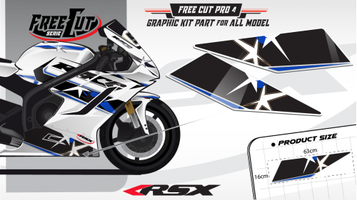 Low fairing F4 white Graphic kit