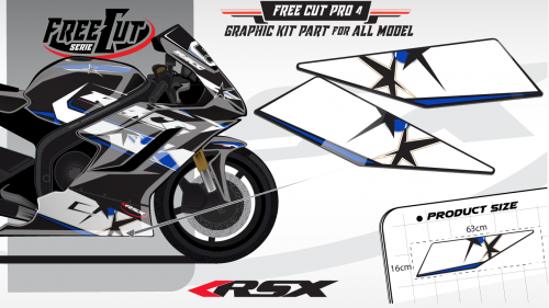 Low fairing F4 black Graphic kit