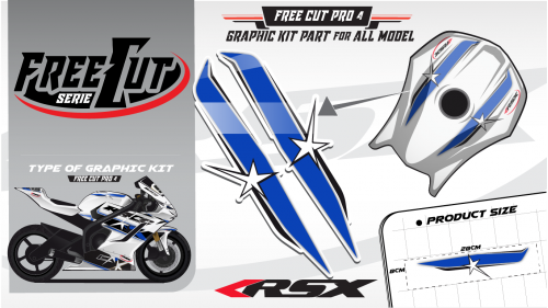 Fuel tank F4 Graphic kit