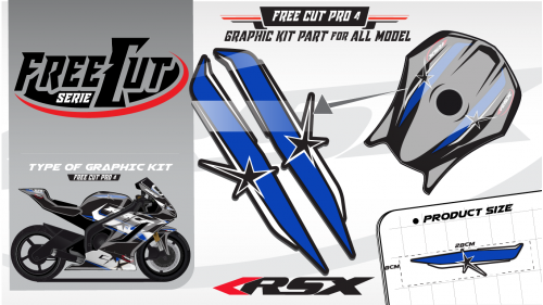 Fuel tank F4 black Graphic kit