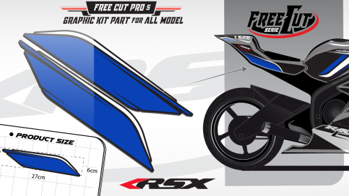Rear seat F5 back Graphic kit