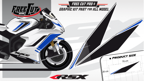 Low fairing F5 white Graphic kit
