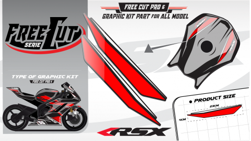 Fuel tank F5 black Graphic kit