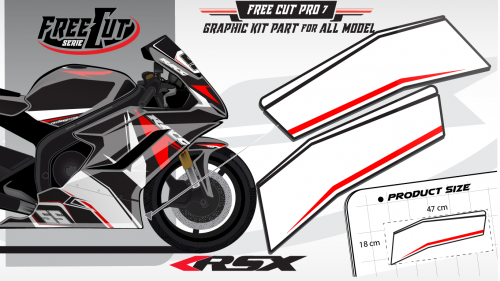 Low fairing F6 black Graphic kit