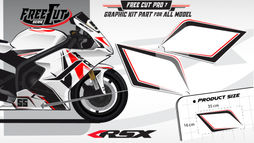 Low fairing F7 white Graphic kit